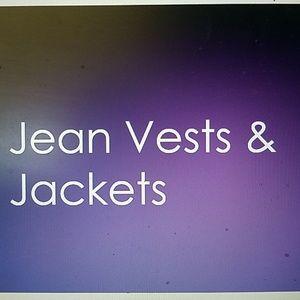 Jean vests & jackets